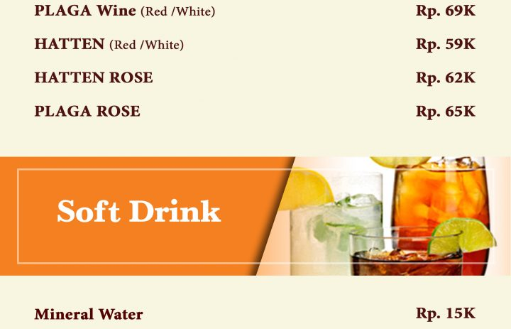 11) house wine & softdrink