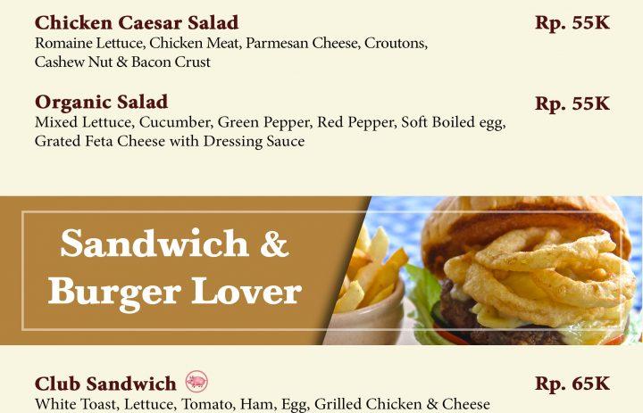 14) salad & sandwich