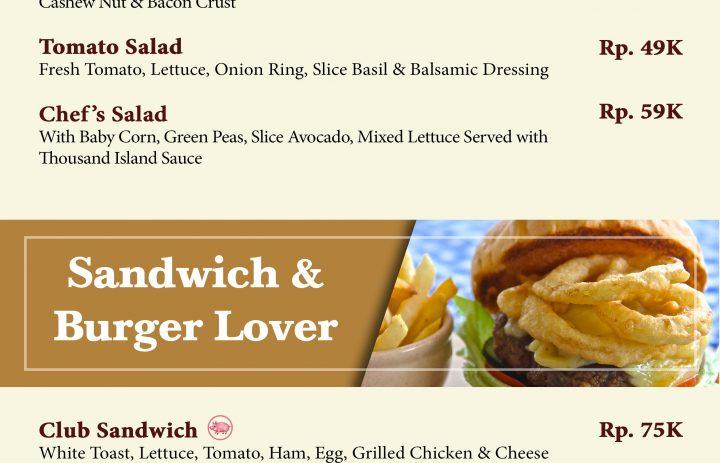 16) salad & sandwich