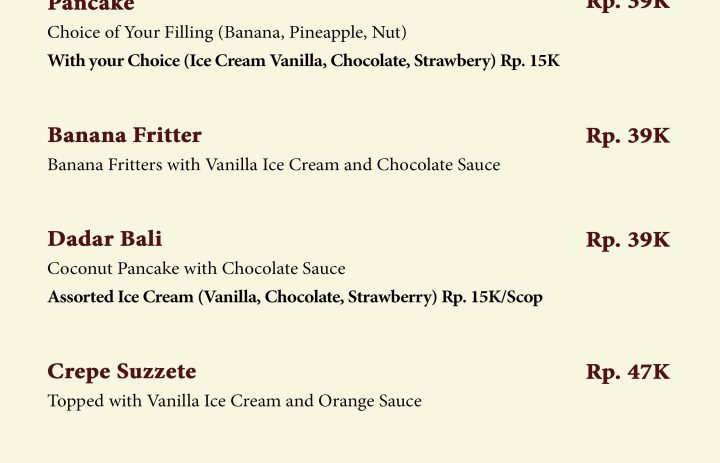 22) dessert