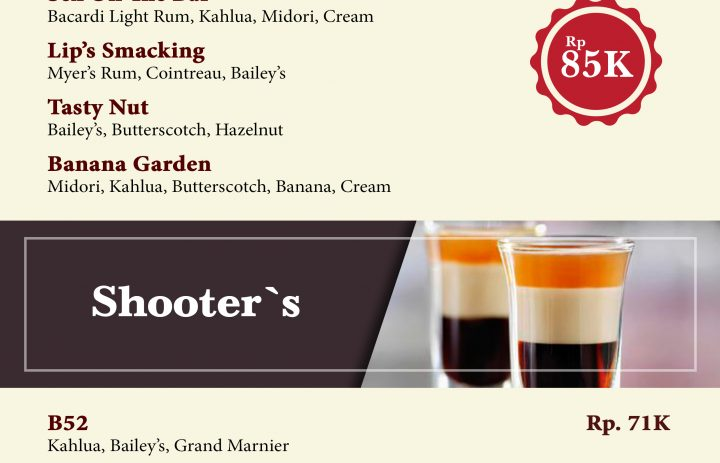 7) creamy cocktail & shooter