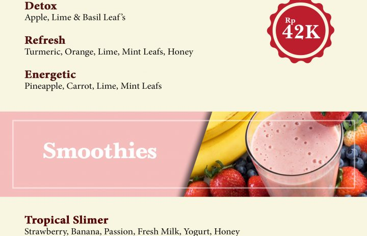 1) healthy juice & smoothies