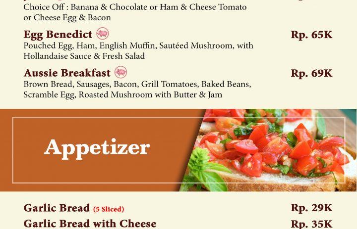 14) breakfast & apettizer