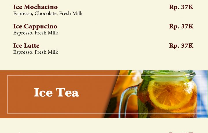 3) ice coffee & ice tea