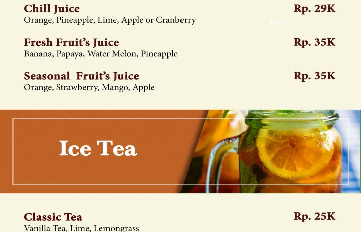 3) milkshake & ice tea