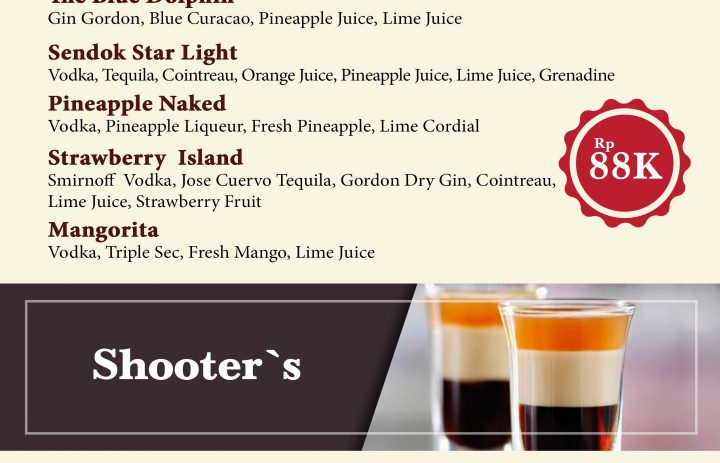 4) signature cocktail & shooter
